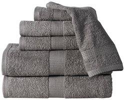 Affinity 6-pc Low Twist Combed Cotton 600 GSM Towel Set - Platinum