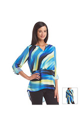 Rafaella High Low Tiered Tunic Top