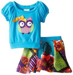 Girls Youngland Owl Tee & Skirt Set - Size: 4-6x