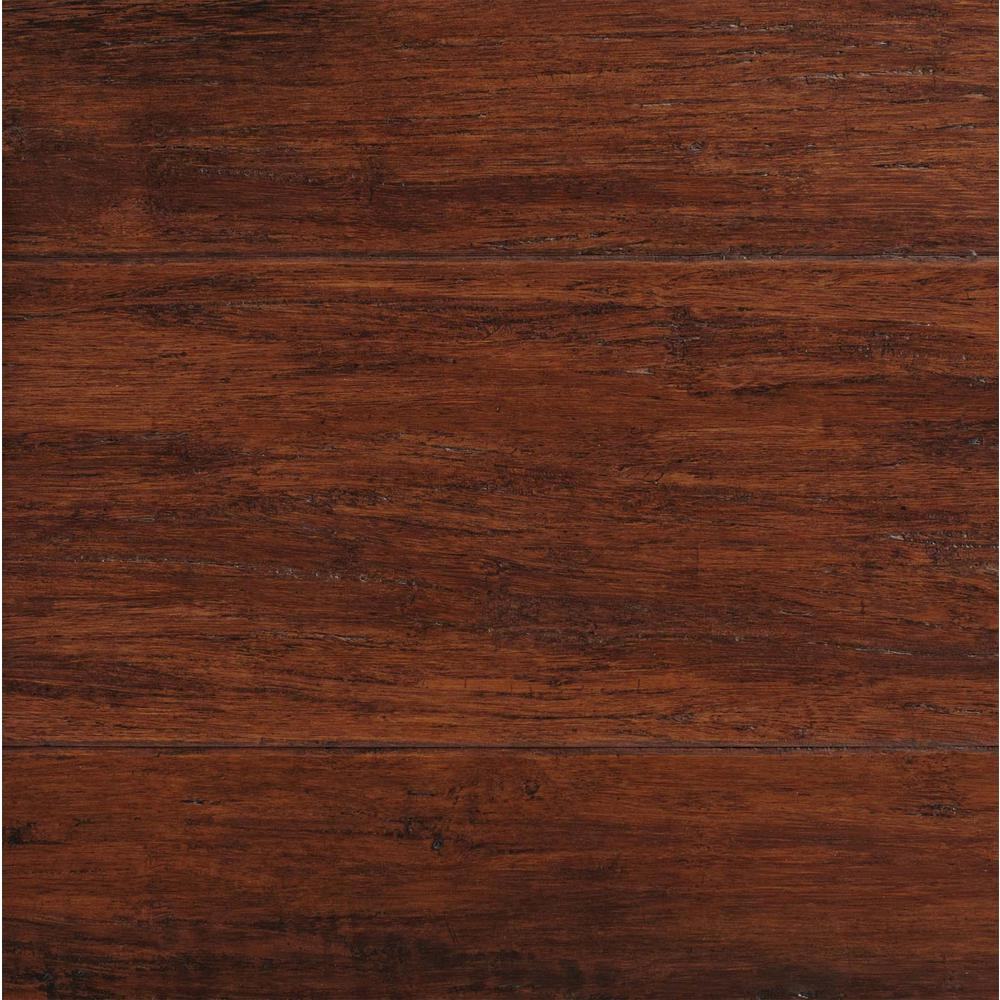 Hdc Strand Woven Bamboo Hand Scraped Flooring Brown 3