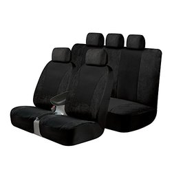 3-pc Sgx Scotchgard Seat Cover Kit - Black