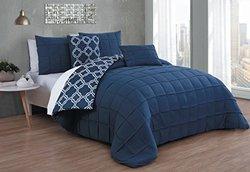 Avondale Manor AUB5CSQUENGHNV Aubrey 5Pc Comforter Set - Queen - Navy,Queen