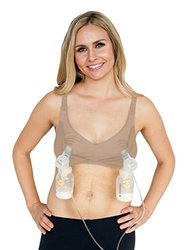 Simple Wishes Supermom All-in-One Nursing and Pumping Bra, Nude, L-40/42 (D-DD)