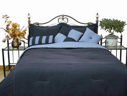 LCM Home Fashions Microfiber Comforter Set - Denim/Blue - Size: Twin