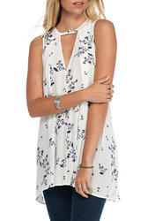 Free People Women's Tree Swing Tunic Dress - Ivory - Size: Small
