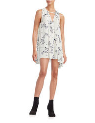 Free People Women's Tree Swing Tunic Dress - Ivory - Size: Medium