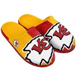 NFL Kansas City Chiefs Split Color Slide Slipper - Red - Size: XL