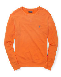 Raulph Lauren Kid's French Terry Sweatshirt - Bri Signal Orange - Size: S