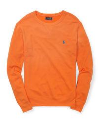 Raulph Lauren Kid's French Terry Sweatshirt - Bri Signal Orange - Size: S