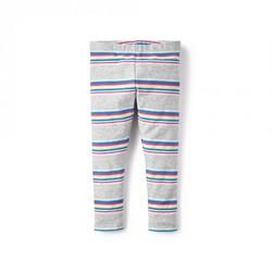 Tea Collection Baby Girl's La Paz Stripe Leggings - Grey - Size: 18-24 mo.