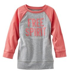 Oshkosh Girl's Tlc Free Spirit Tunic Top - Heather Red - Size: 6
