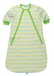 Under The Nile Kids Terry Lined Bath Bunting - S Stripe - Size: 0-6M