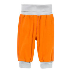 Under The Nile Baby Boy's Roll Over Pants - Orange/Grey - 3-6M