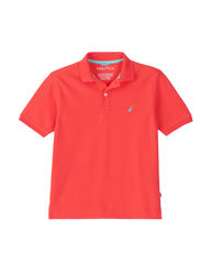 Nautica Boy's Solid Color Polo T-shirt - Red - Size: X-Large
