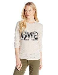 GWG: Girls With Guns Women's Burnout Tee, Small, Cream