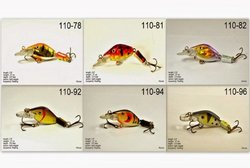 Akuna Pack of 6 Wobbler Series 2.6 inch Sinking Jointed Fishing Lure [BP-6-FLA-110-A]