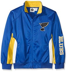 NHL St. Louis Blues Tricot Track Jacket - Royal - Size: Large