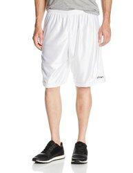 ASICS Men's Player 10 Shorts, White, X-Large