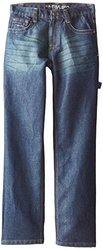 U.S. Polo Assn. Big Boys' Classic Fit Carpenter Jeans, Medium Tint Wash, 8