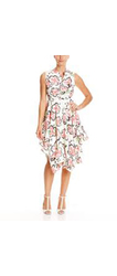 Gracia Floral Printed Off the Shoulder Dress - Multi - Size: Small