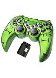Gamepad 2.4G Wireless PS2 Controller with Lithium Battery  - Green