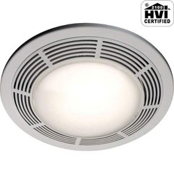 NuTone 8663RP Decorative 100 CFM Ceiling Exhaust Fan with Light - White