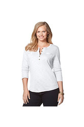 Chaps  Plus Size Cotton Pocket Henley