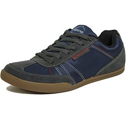 Alpine Swiss Marco Men's Suede Trim Fashion Tennis Shoes - Navy - Size: 9