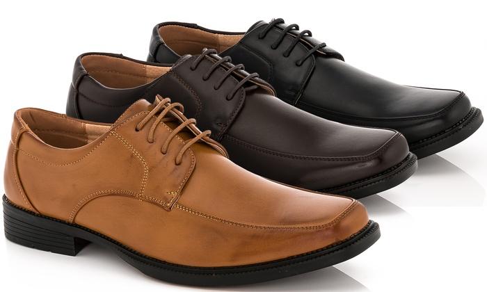 5497a927108 Adolfo Men s Berti Lace-Up Dress Shoes - Brown - Size  9.5 - Check ...