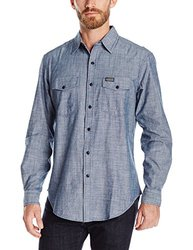 U.S. Polo Assn Men's Solid Long Sleeve Shirt - Infinity Blue - Size: XL