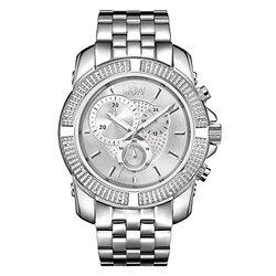 JBW Mens Warren Diamond Watch Collection: Stainless Steel/J6331B