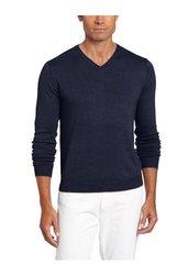 Raffi Linea Uomo Men's Long Sleeve V-Neck Sweater - Midnight - Size: XL