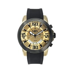 Nxs Swiss Watches: 62625159/black Band-gold Dial