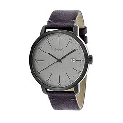 Simplify The Men's Watch: 2503/Brown Band-Grey Dial