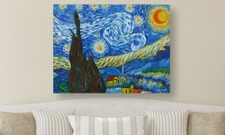 "ICEG 24x18"" Vincent Van Gogh Oil Painting Wall Art on Canvas -Starry Night"