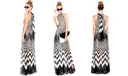 Leo Rosi Women's Caroline Maxi Dress- Black/White - Size: Small