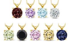 Sevil Women's 1CT Solid Gold Birthstone Pendant - February