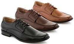 Franco Vanucci Remy Men's Lace-Up Dress Shoes - Black - Size: 8.5