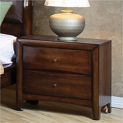 Coaster Hillary and Scottsdale Two Drawer Nightstand - Warm Brown