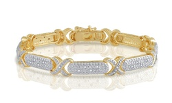 CTTW Diamond X Link Bracelet in 14K Gold