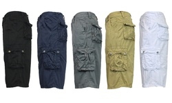 Galaxy by Harvic Men's Cotton Cargo Utility Shorts - Navy - Size: 32
