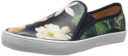 Corso Como Women's Duffy Fashion Sneaker - Navy Floral Leather - Size: 7