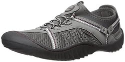 JSport by Jambu Women's Compass Slip-On Shoes - Grey/Purple - Size: 9