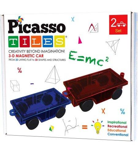 Picassotiles 2 Pc 3d Magnetic Car Truck Set For Magnet