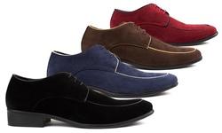 Royal Men's Moc Toe Lace-up Dress Shoes - Black - Size: 11