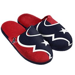 NFL Houston Texans Split Color Slide Slipper, Medium, Blue