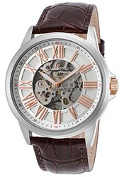 Lucien Piccard Men's Watch: Lp-12683a-02s-ra-brw-brown Band-silver Dial