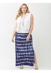 ASOS Tie Dye Stripe Summer-Perfect Maxi Skirt - Multi