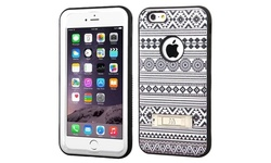 Insten Hard Hybrid Case w/ Stand For iPhone 6 Plus/6s Plus - Black/White