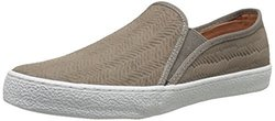 Corso Como Women's Leather Woven Embossed Sneakers - Taupe - Size: 5.5